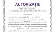AUTORIZATIE AGENT DE SECURITATE